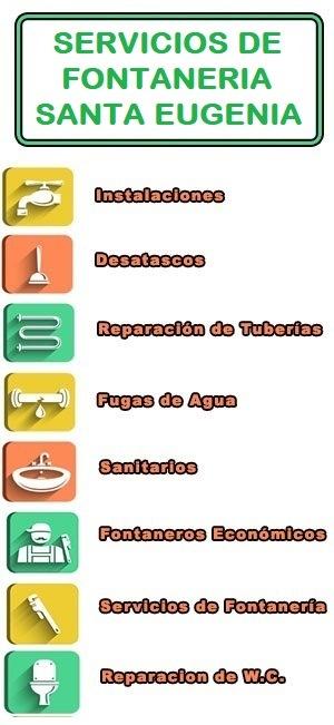 servicios de fontaneria en Santa Eugenia