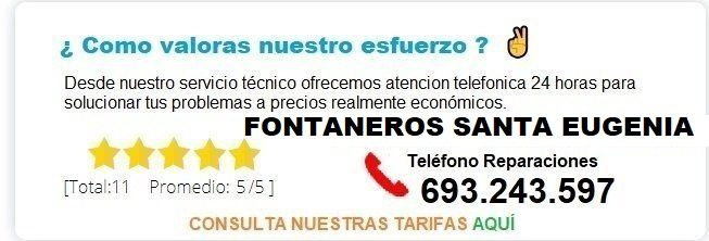 Fontanero Santa Eugenia precio
